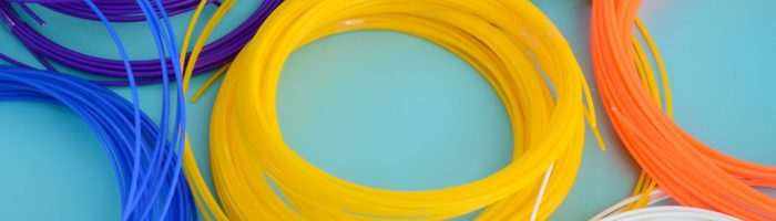 Plastic PLA and ABS filament