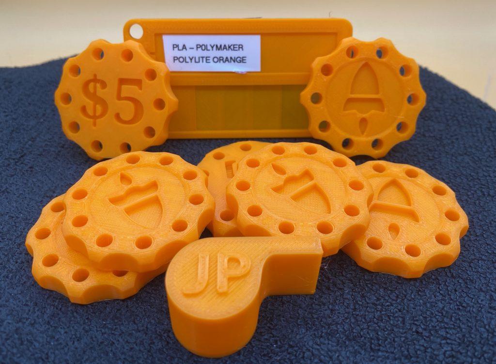 PolyLite PLA True Orange Prints